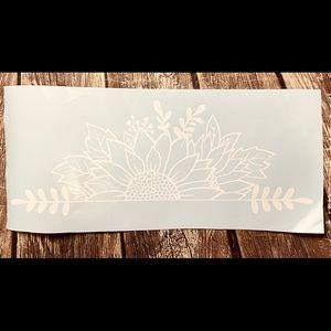 Sunflower 20 Inches White Vinyl Decal